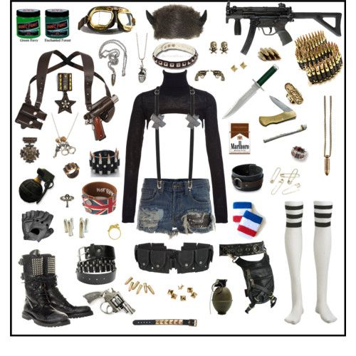Dieselpunk fashion | Steampunk # post apocalyptic # tank girl # polyvore
