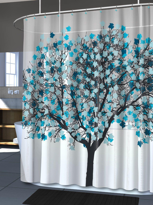 Amazon Com Splash Home Eva Shower Curtain 70 By 72 Inch Foliage
