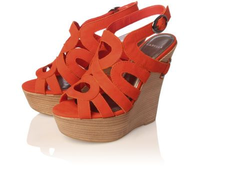 Carvela Kara Orange Platform Shoe...say whaaat?