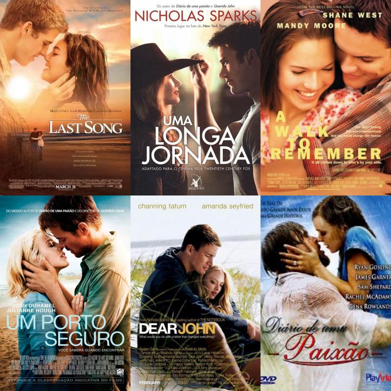 Filmes baseados em livros do Nicholas Sparks | Nicholas