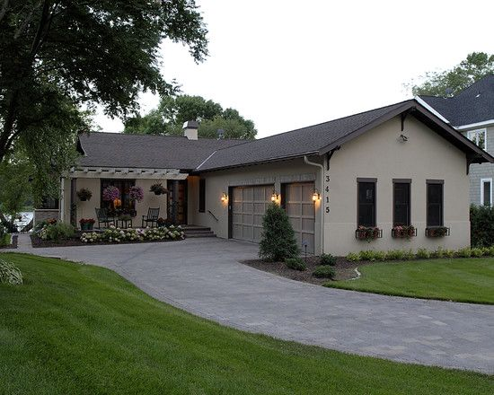 Exterior front door pergola design pictures remodel for Ranch house curb appeal