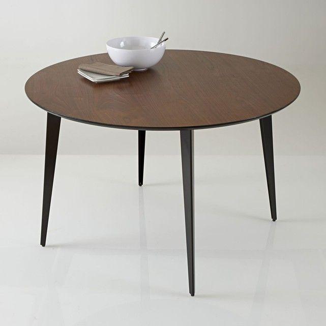 Table de repas ronde et vintage watford laquée aux courbes dinspiration 50s sa forme caractéristique des 50s apportera une touche vintage appréciée de