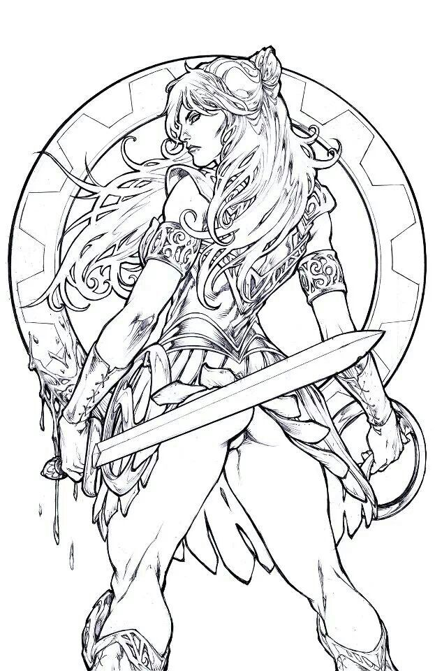 Pin By Sabra Winters On Crafts Coloring Pages Art Warrior Rhpinterest: Xena Coloring Pages At Baymontmadison.com