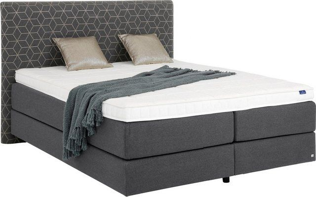 """Villeroy & Boch box spring bed """"MOSAÏQUE Laila carré"""", double bed in floating optics, headboard in mosaic fabric, height 130 cm at low prices online OTTO"""