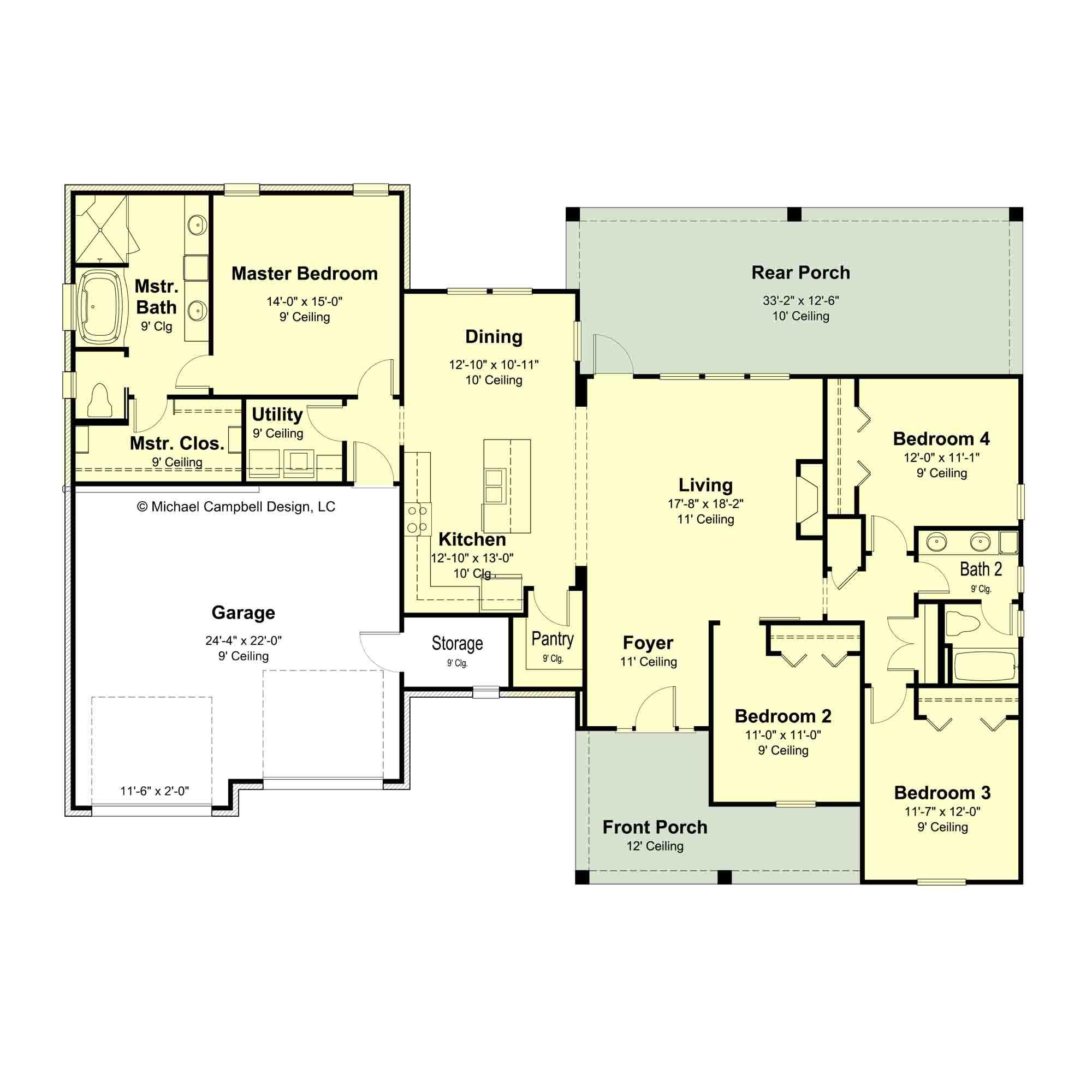 House Plans2 000 Sq Ft – Michael Campbell Design