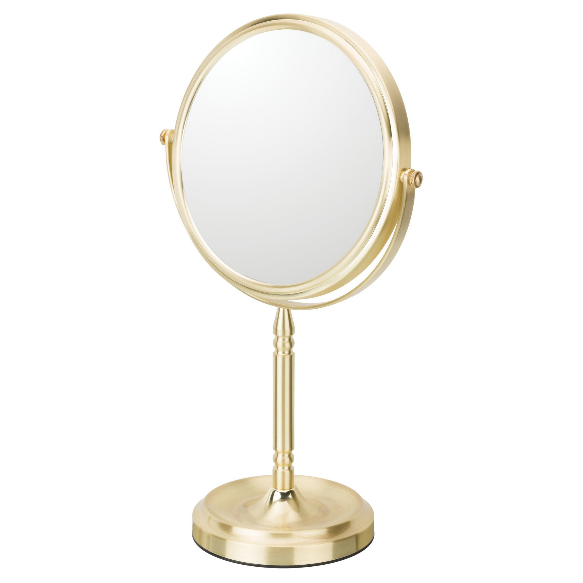 Recessed Base Double Sided Free Standing Magnified Makeup