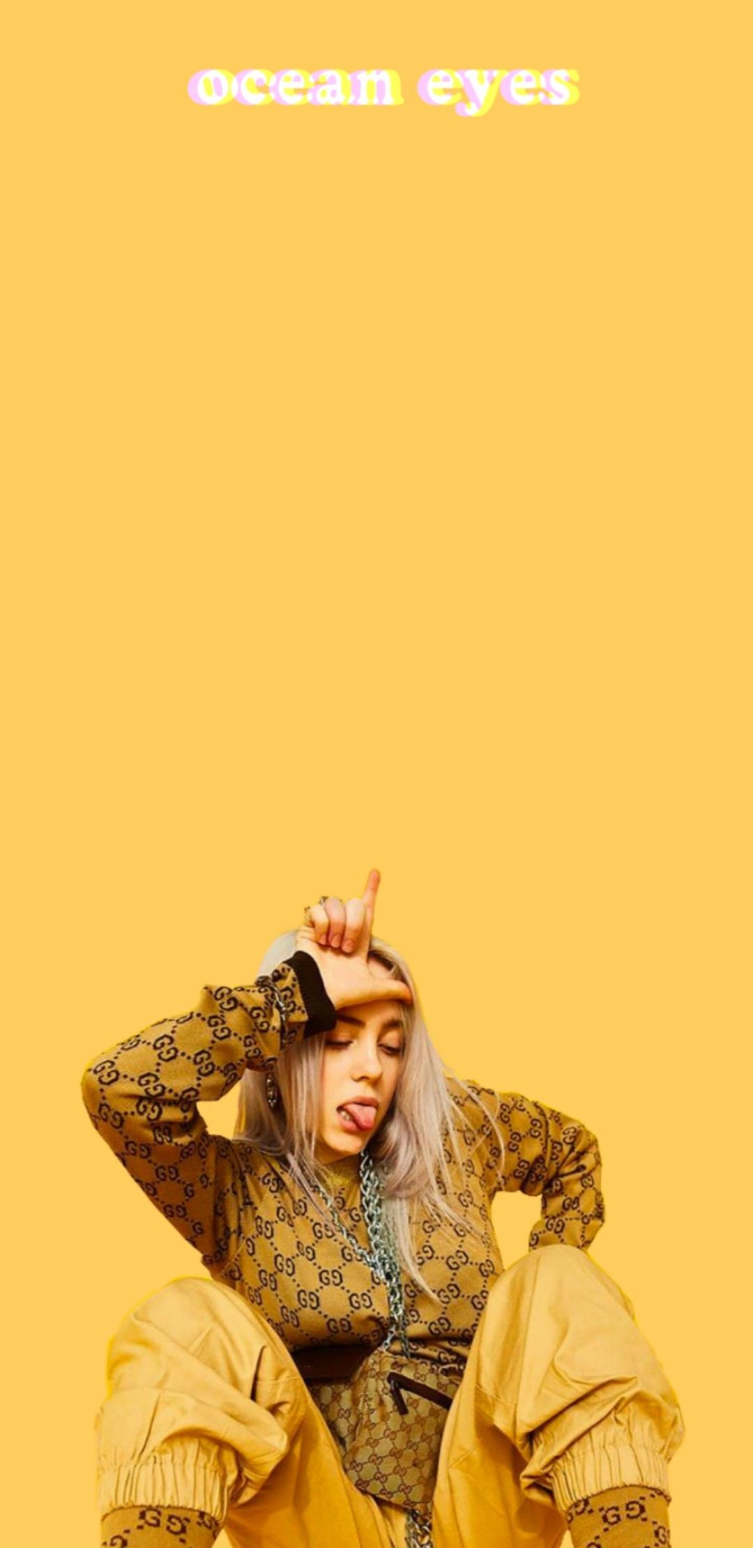Yellow Amarelo Fan Billie Eilish Background Wallpaper Plano