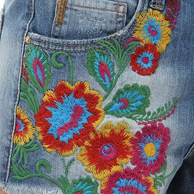 Shorts Bordado Colcci 0060101619 - Jeans - Escolha seu tamanho | Passarela