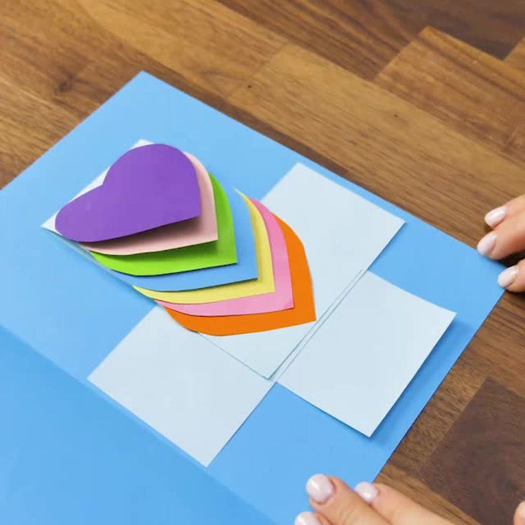 Pop Up Cards 5 Minute Crafts Mothers Day Valentines Day Elementary