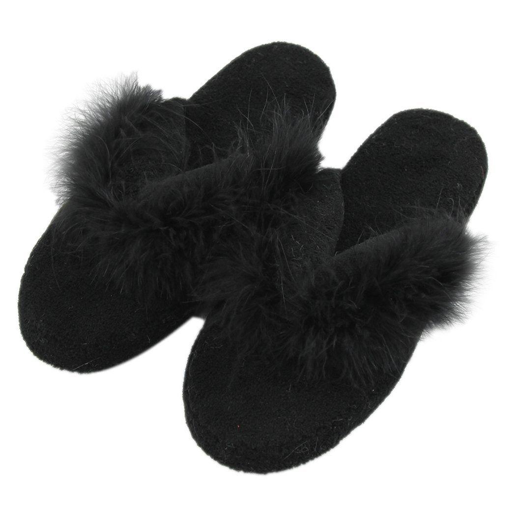 Soft Fleece Indoor Non-Slip Slippers In 2019
