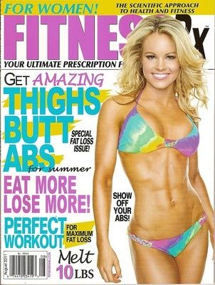 Fitness RX for Women,Justine Munro,sexy,Pro Figure,workouts,August 2011~NEW health-fitness