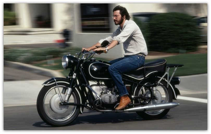 Steve Jobs Riding A 1966 R60 2 BMW Motorcycle
