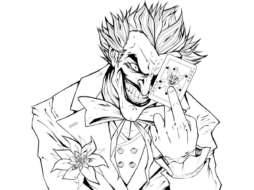 The Joker Coloring Pages Free Download Usable Educative Printable Joker Artwork Joker Art Drawings