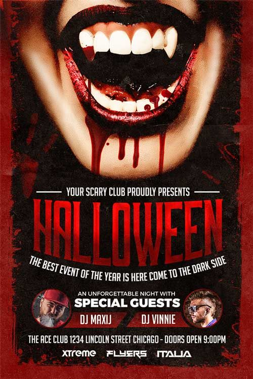 Halloween Party Flyer Template  HttpWwwXtremeflyersCom