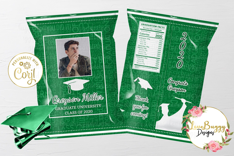 Printable Chip Bag Graduation Chip Bag Style 18-2 Graduation Favor Template Grad Favor Bag Instant download Editable Chip Bag
