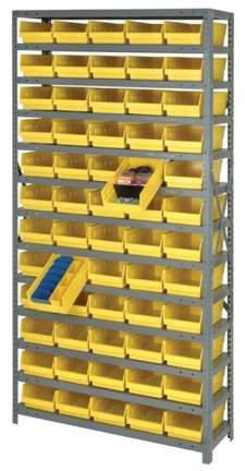 Quantum Storage Systems 1275 101gn Bin Shelving Solid 36x12 96 Bins Green Walmart Com Shelf Bins Storage Bins Storage System