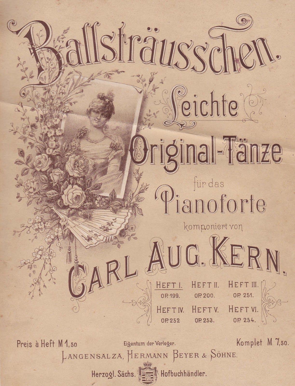Windmühle21: Alte Notenblätter 1 basteln Pinterest Vintage