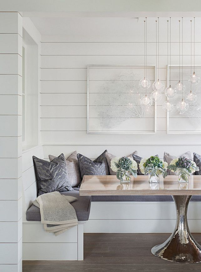 The walls are 1×8 shiplap fabricated from Poplar wood with a