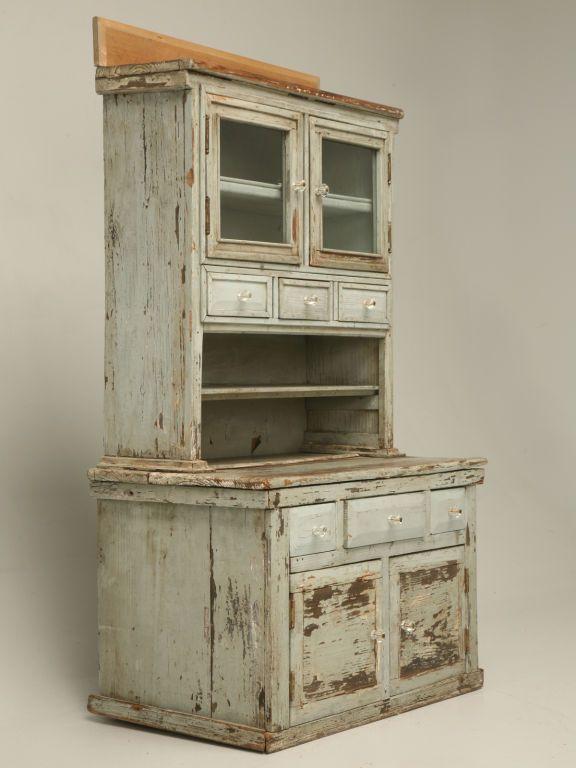 Miniature American Pine Original Paint Child's Cupboard - Miniature American Pine Original Paint Child's Cupboard Cupboard