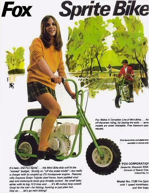 Fox Sprite Bike - Vintage Mini-Bike Ad