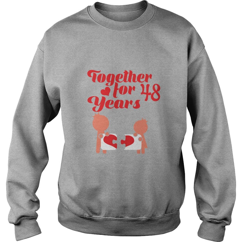 Great T Shirt For 48th Wedding Anniversary Gift Husband Wife