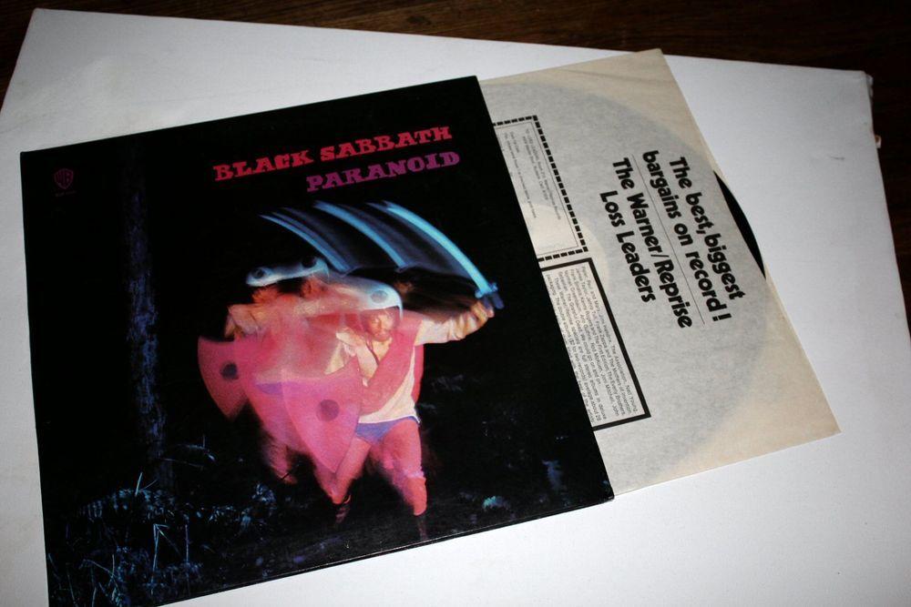 Black Sabbath Paranoid Lp Gatefold First Press Vinyl Record Black Sabbath Vinyl Records Records
