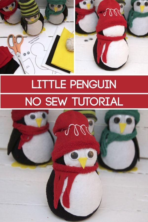 Sock Penguin - No Sew #penguincraft