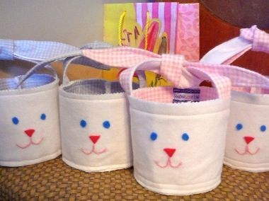 Fabric Easter Bunnys all done.