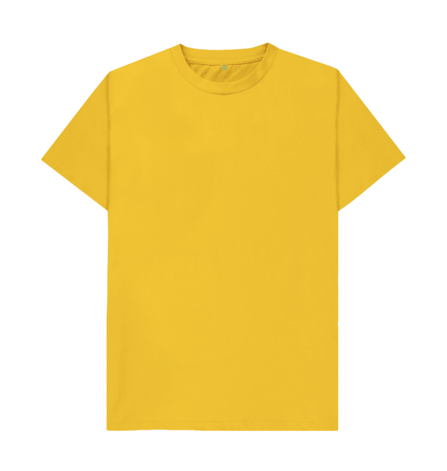 Download Mustard Plain Organic T Shirt Kaos Membuat Baju Kaos Sablon
