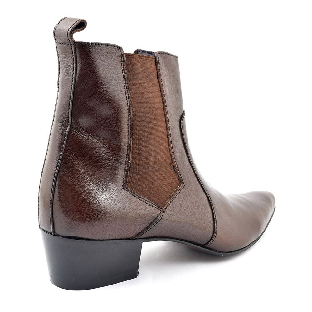 2e8fc42b4 Jorge Dark Brown Heel Chelsea Boot | Men's Dress Boots | Boots ...