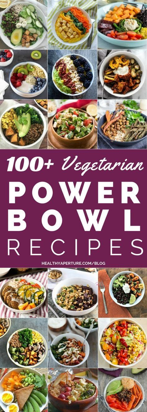 Healthy Vegetarian Power Bowls images