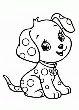 Cartoon Puppy Coloring Page For Kids Animal Pages Printables Free