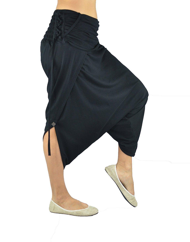 Luftig leichte Haremshose für Damen im Hosenrock Look. Alternative ...