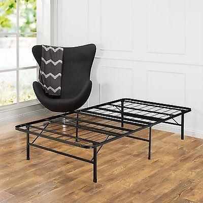 Smart Base Foundation Steel Bed Frame Bedroom Platform Set Black ...