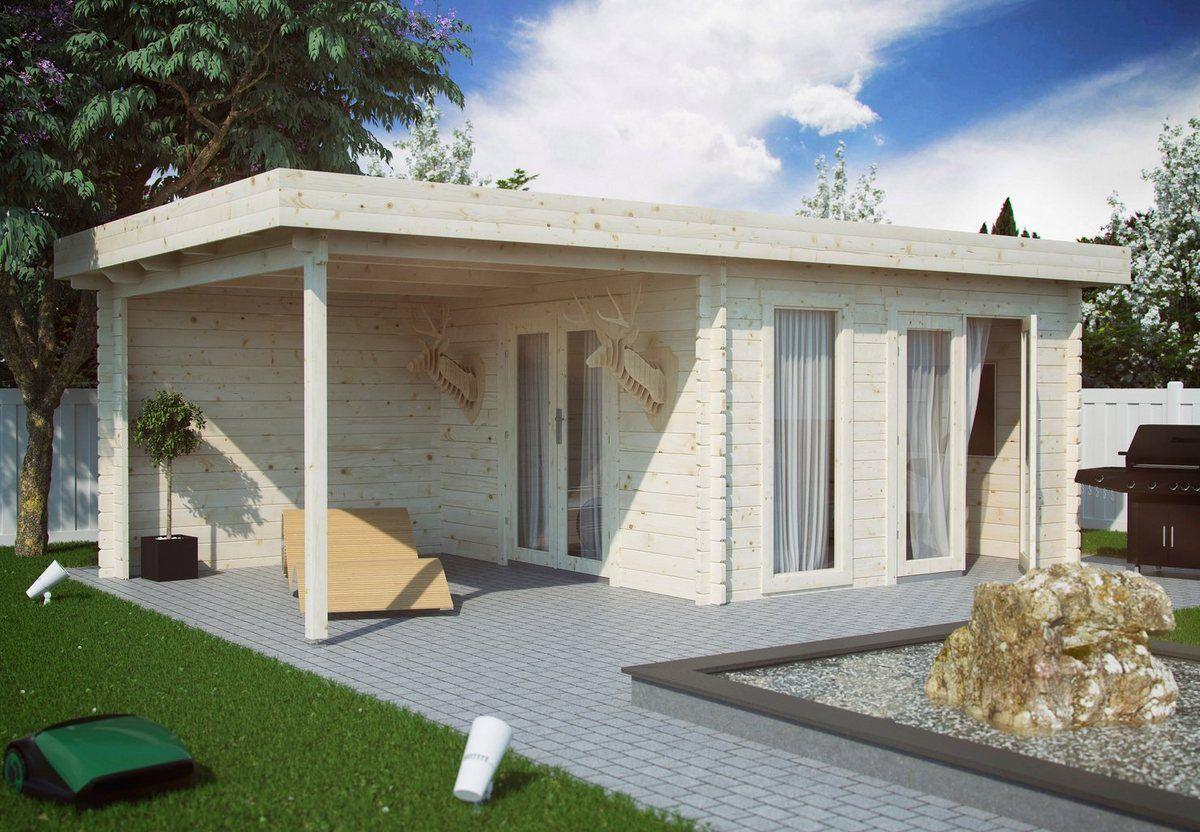 KiehnHolz Set Gartenhaus »Lillevilla 529«, BxT 696x424