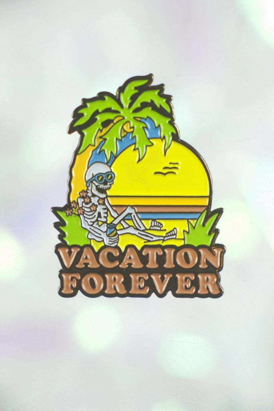 Vacation Forever Lapel Pin - NIGHT WATCH STUDIOS