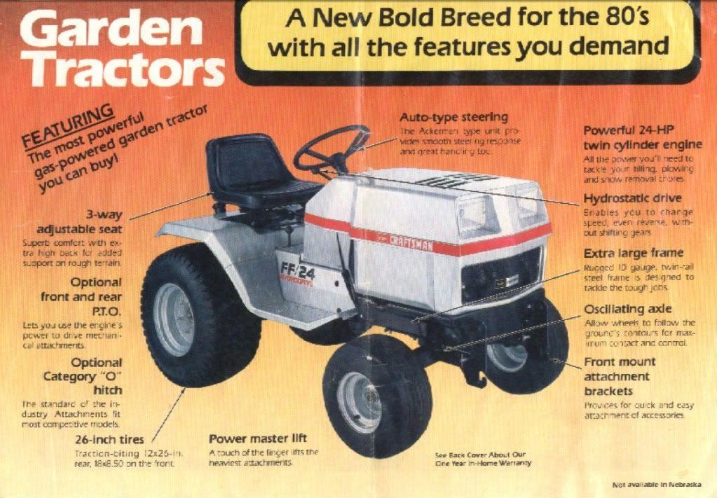 Sears Ff20 Sears Craftsman Tractors Garden Tractor Yard Tractors