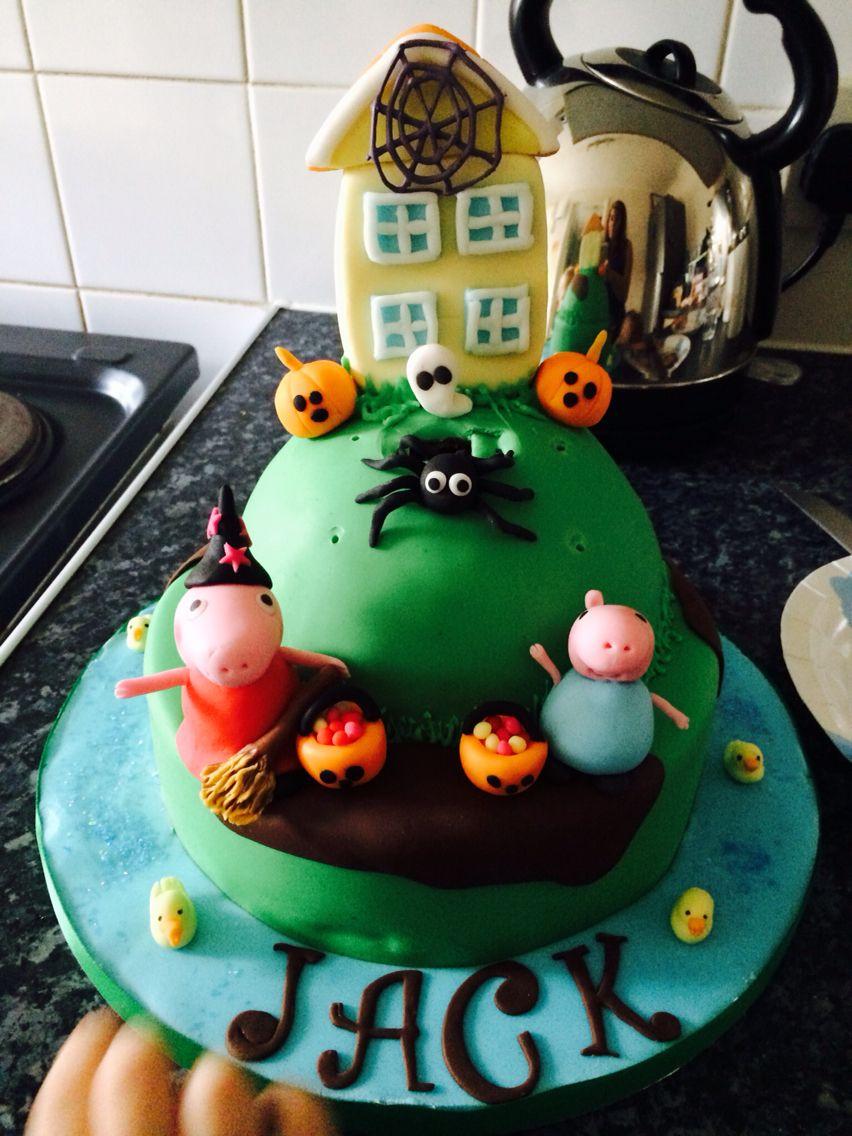 Peppa Halloween cake! | Cool birthday cakes! | Pinterest | Halloween ...