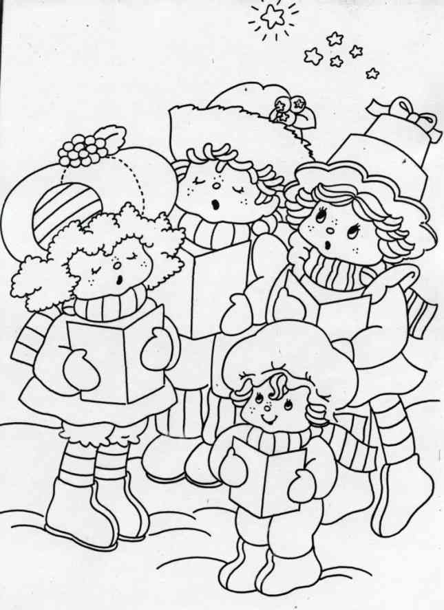 Raspberry Tart Huckleberry Pie Lime Chiffon And Apple Dumplin Singing Christmas Carols Kids ColoringColoring SheetsAdult