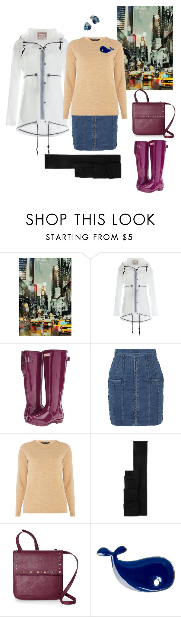 """rain"" by explorer-14541556185 ❤ liked on Polyvore featuring Home Decorators Collection, Hunter, Balmain, Dorothy Perkins, Nine West and Conran"