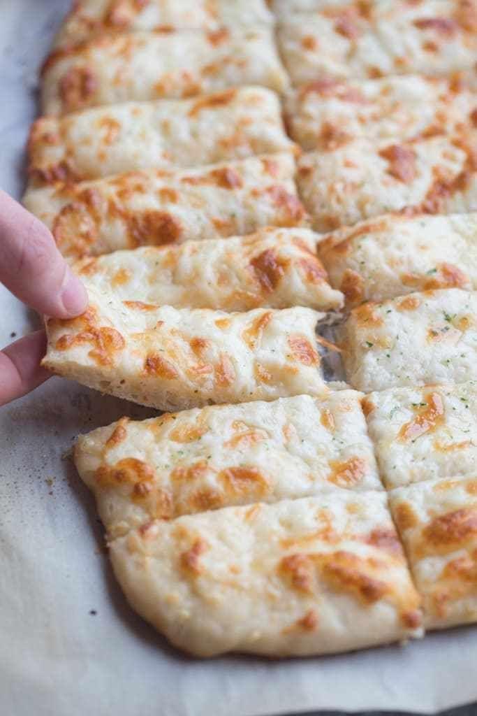 Cheesy Garlic Breadsticks Recipe Garlic Breadsticks Breadsticks Recipes