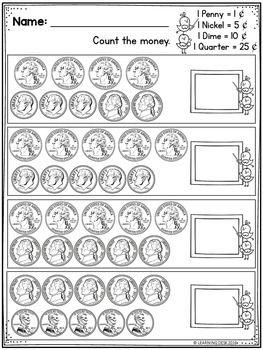 Money Worksheets For 1st Graders - Easy Worksheet