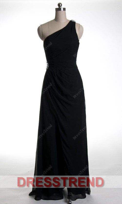 Long prom Dress/Black prom Dress/Long Bridesmaid by DressTrend, $98.99