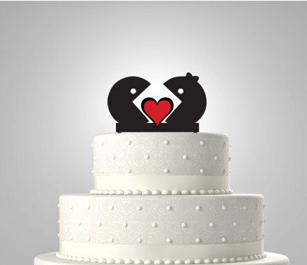 Pac-Man and Ms Pac-Man Wedding Cake Topper by Bee3DGifts on Etsy