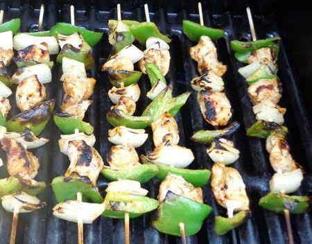 Grilled Chicken Fajita Kabobs