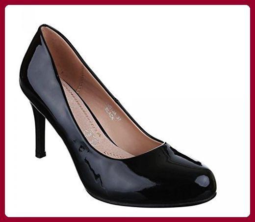 Klassische Schwarze Pumps Lack Stilettos Damenschuhe