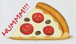 risco e passo a passo de fatia de pizza para pintura em tecido