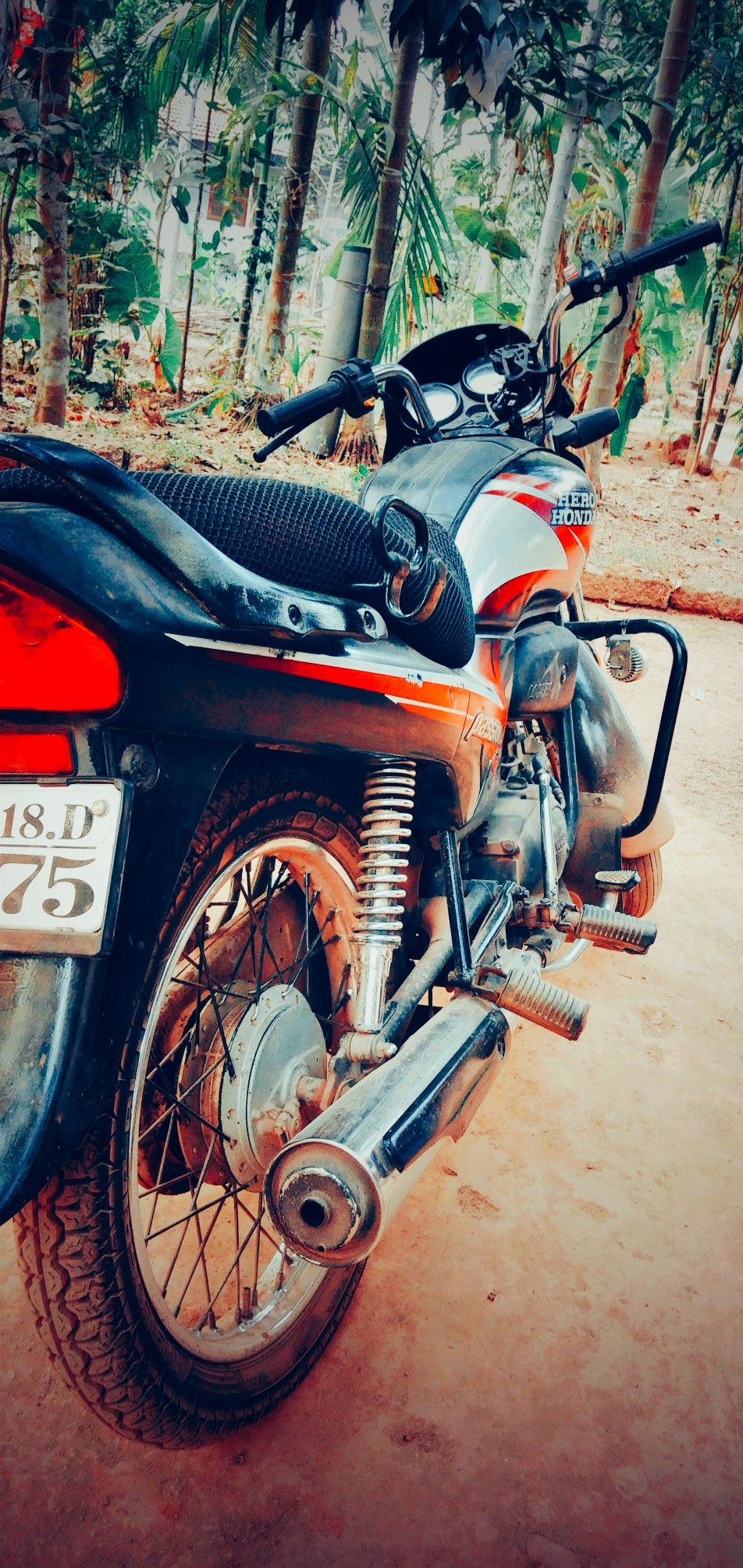 Vintage bike  kerala top old bike   hero honda passion plus