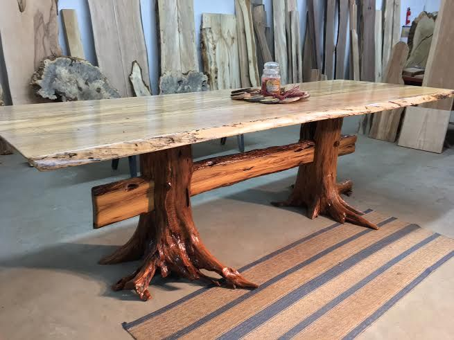 Live Edge Spalted Maple Dining Table Beautiful Salvaged Live Edge