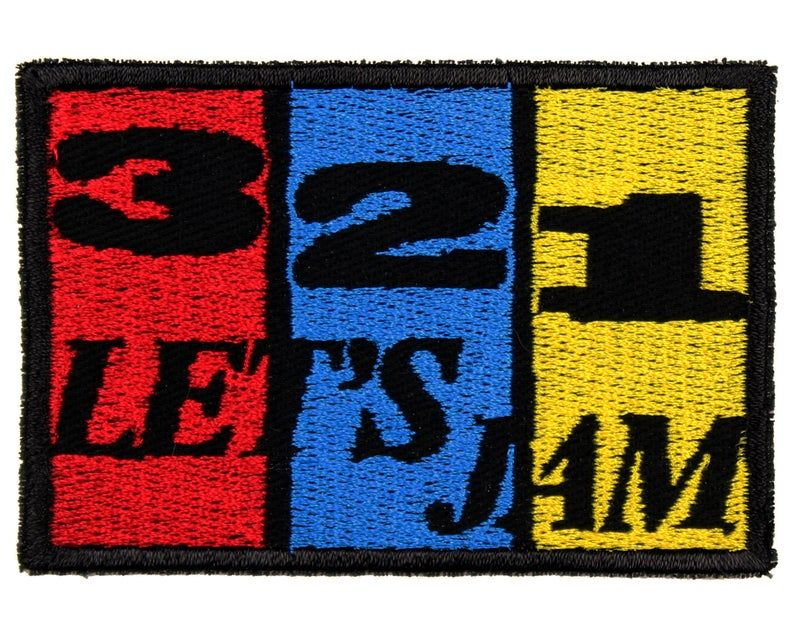 321 lets jam patch 4 x 1 classic anime etsy in 2020